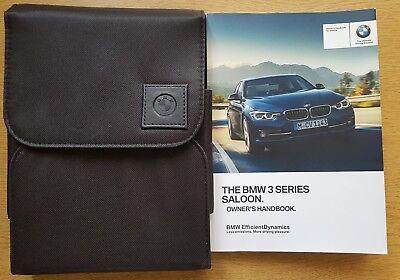 Genuine BMW 3 SERIES Saloon 2015-2017 Manual Owners Handbook WALLET iDrive
