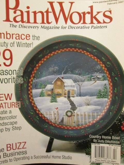 PaintWorks Magazine February 2007-Teddy/Winter Landscapes/Christmas Cactus/Churc