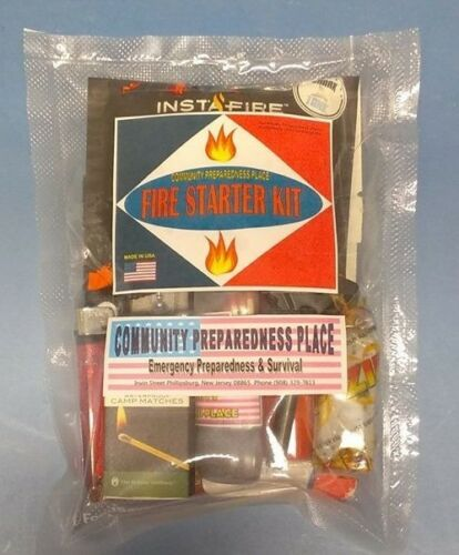 """NEW 8 in 1 Custom Fire Starter Kit /""""Everything you need all in one Bag/"""" NEW!"""
