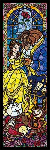 456 piece Jigsaw Puzzle Disney Beauty and the Beast Stained Glass * plastic