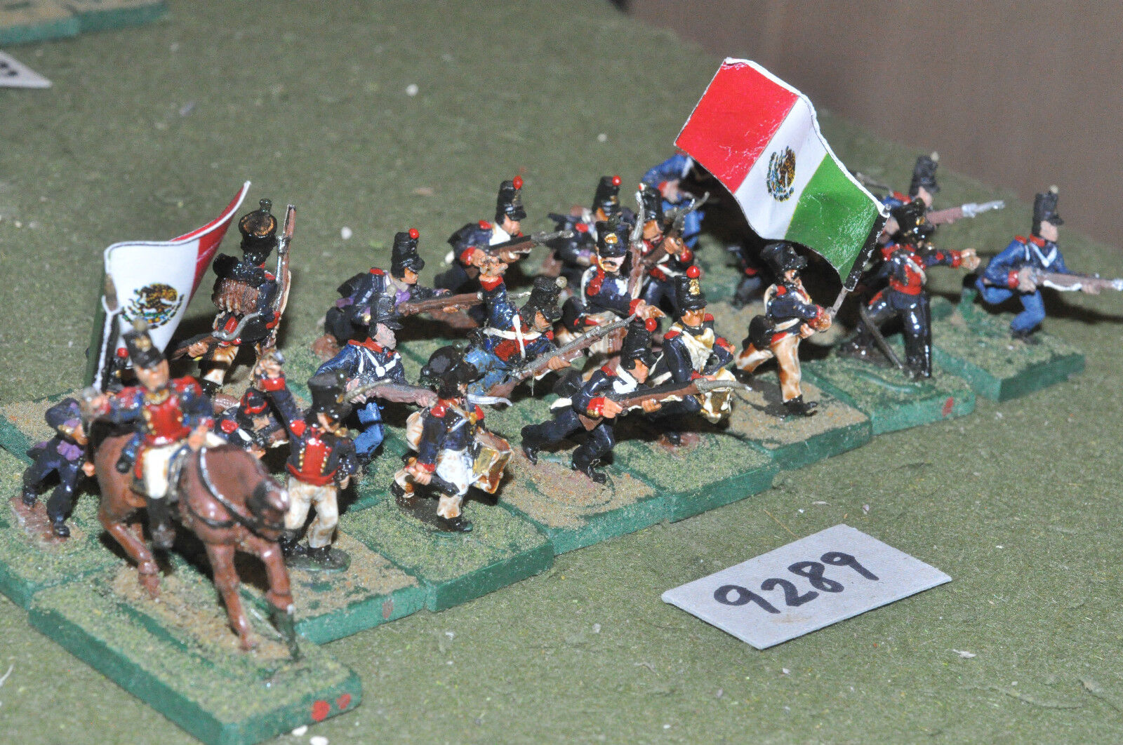 25mm ACW   mexican - american war infantry 24 figs metal painted - inf (9289)