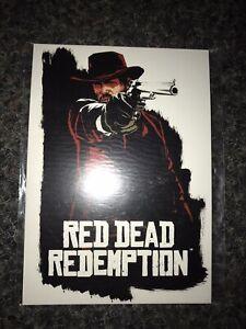 Postcard Set Promo Red Dead Redemption RARE Rockstar Games / Seal Jhon Marston