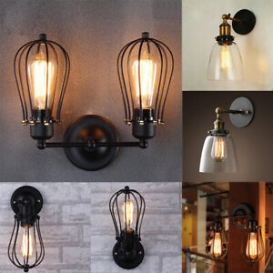 pretty nice 8b0ba ff2d5 Details about Modern Retro Vintage Industrial Wall Mounted Lights Rustic  Sconce Lamps Fixture