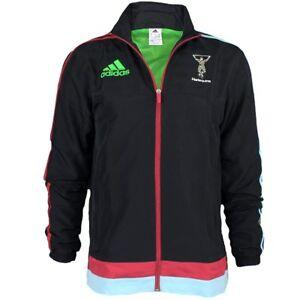 Details about Adidas HQ Jacke men's rugby fan track top Harlequins presentation jacket NEW