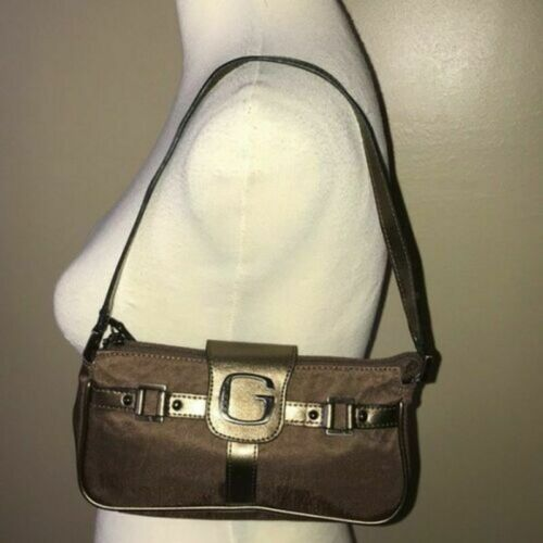 EUC GUESS Bronze & Chocolate Mini Bag Evening Shou