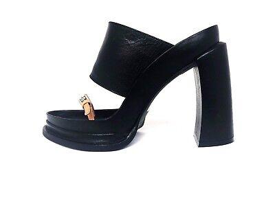 Black Via Spiga Women/'s Fiorel Block Heel Sandal Choose Your Size