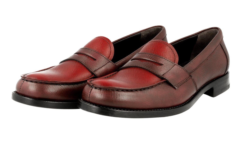 shoes PRADA SAFFIANO LUSSO 1D055F GRANATO RUBINO NUOVE 38,5 39