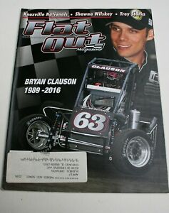 Flat Out Magazine October 2016 Bryan Clauson Knoxville Nationals Trey Starks