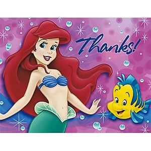 disney little mermaid special edition princess ariel thank you notes