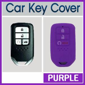 Car-Key-Cover-Case-Protector-Fits-Honda-Accord-CRV-Civic-3-Button-Remote-PURPLE