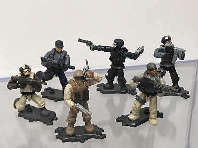 CALL OF DUTY BASEPLATES STAND FOR HALO MEGA BLOKS CONSTRUX LOT OF 64 STANDS