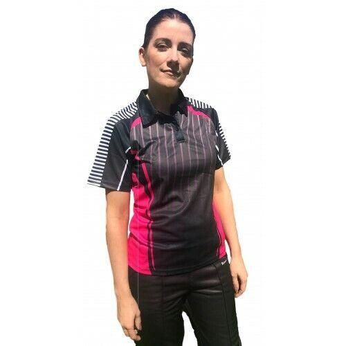 BowlsTrader Raptor Series Bowls Shirt Black//Pink//White