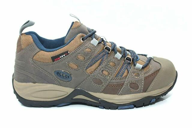 8c6df2ff845 Johnscliffe Kathmandu Trekking and Trail Shoes Small Kids UK 4 / EU 20  Brown/navy Blue Synth.nubuck/nylon
