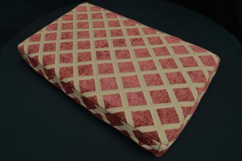 we602t Reddish Brown Check Chenille 3D Box Shape Sofa Seat Cushion Cover*Size