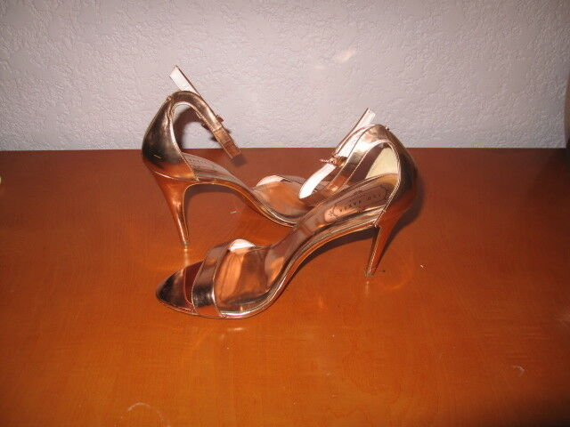 TED  BAKER LONDON ANKLE STRAP  TED SANDALS HEEL ROSE GOLD SIZE 41 9eb60a