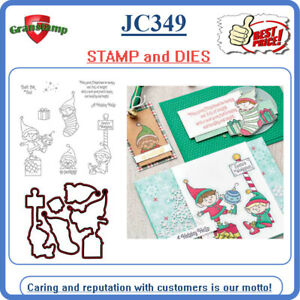 JC349 ELFIE Stamp set Metal Cutting Dies and stamps Dies Scrapbooking Album