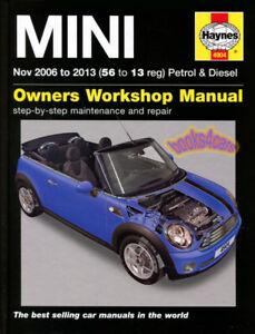 shop manual mini cooper service repair book haynes chilton ebay rh ebay com workshop manual mini cooper repair manual mini cooper