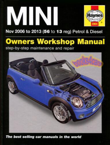 SHOP MANUAL MINI COOPER SERVICE REPAIR BOOK HAYNES CHILTON