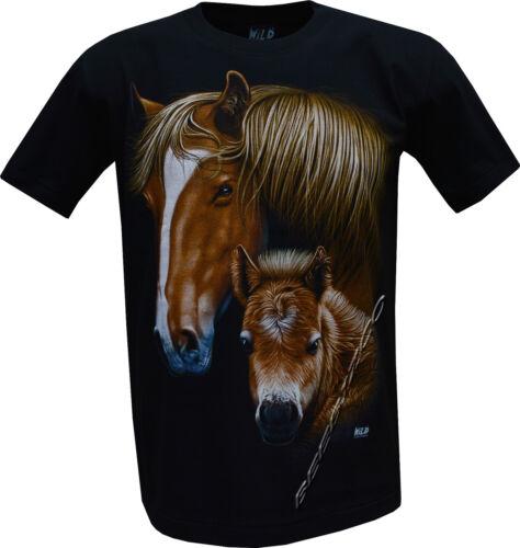 Shirt Front /& Back Print M XL New Ladies Womens Horse Stallion Pony Cute T
