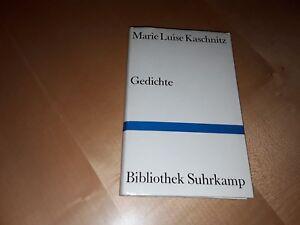 Details Zu Gedichte Marie Luise Kaschnitz Taschenbuch Bibliothek Suhrkamp Deutsch 1980