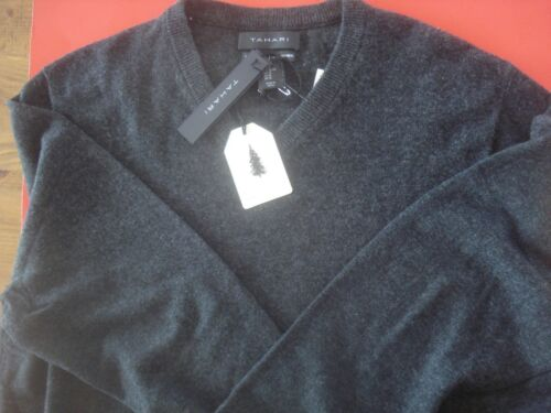 Cashmere Grey Xlarge Tahari Sweater V Charcoal Nuevo neck 100 FqxOadAw