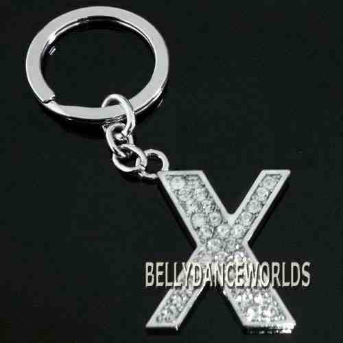 Letter A-Z Diamonte Initial Keyring On Sale; Key Ring with your Name Initial