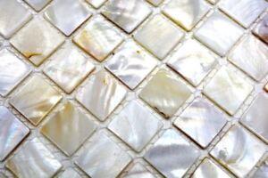 Mosaik Fliese Muschel Perlmutt Mix Wandmosaik Bad Dusche 150 Sm201 F 10matten Ebay