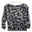 thumbnail 6 - Ann Taylor Womens Top Scoop Neck Puff Sleeve Blouse Black White Work Size Medium