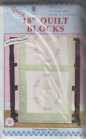 1 Pk Jack Dempsey cross & Flowers Stamped Embroidery Quilt Blocks