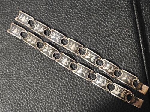 Details about  /Art Deco Vintage Sterling Silver Siam engraved Bracelet with courtship Dancers