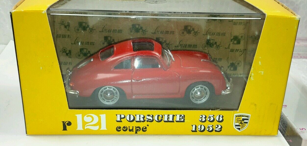 New Vintage Brumm  r121 1952 RED PORSCHE 356  COUPE'  OPEN