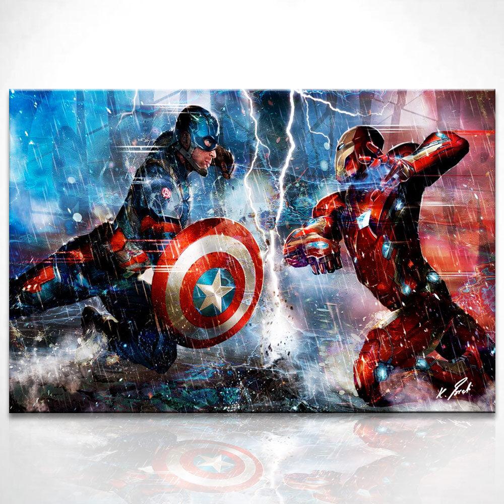 Capitaine America Iron Femme Fantasy Fantasy Fantasy Image Sur Toile ART Images Peintures murales d0786   Les Produits De Base Sont  8cbfc1