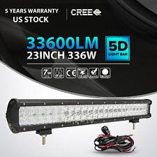 "5D 23Inch 336W Led Light Bar Spot Flood Offroad Driving 4x4WD Truck 24"" 22"" 20"""