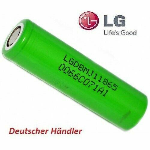 Lötfahnen U o Z LG INR18650-MJ1-3500mAh 3,7V Li-Ionen Akku 10A  FlatTop