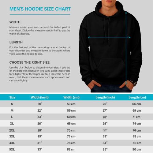 Sky Casual Hooded Sweatshirt Wellcoda Crazy Crow Bird Life Mens Hoodie
