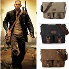 New Men's Vintage Canvas School Satchel Military Laptop Shoulder Messenger Bag