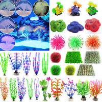 Aquarium Künstliche Koralle Wasserpflanze Kunststoff Fish Tank Aquarien Deko Neu