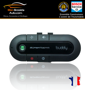 Kits-mains-libres-Bluetooth-voiture-Supertooth-Buddy-Noir-Chargeur-Voiture