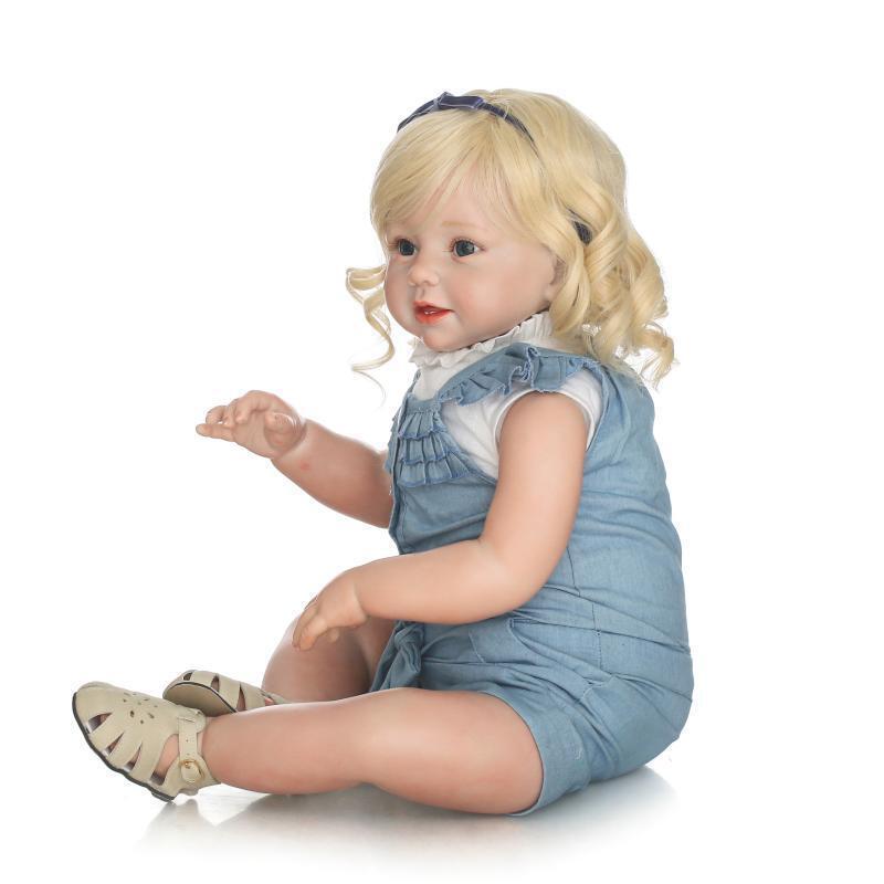 Muñeca Reborn Bebé niñas gran Juguete Recién Nacido Vinilo Suave Silicona Regalo de Cumpleaños 70cm 28