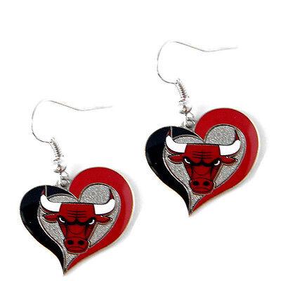 swirl heart earring dangle charm NBA PICK YOUR TEAM