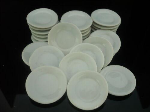 10 x 25 mm.  White Round Plates  Dollhouse Miniatures Ceramic Supply Kitchenware