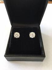 Stud Earrings 6.5mm each (2 CT TW) Round Moissanite 14k white gold