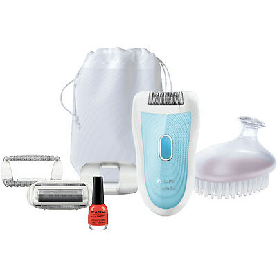 PHILIPS SatinSoft Epilierer HP6522/01 SkinPerfect-System + FABY Nagellack