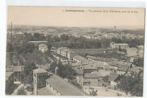 11 Carcassonne, Ansicht Gesamt- Von La Ville Niedrige Aufgenommen La Cite