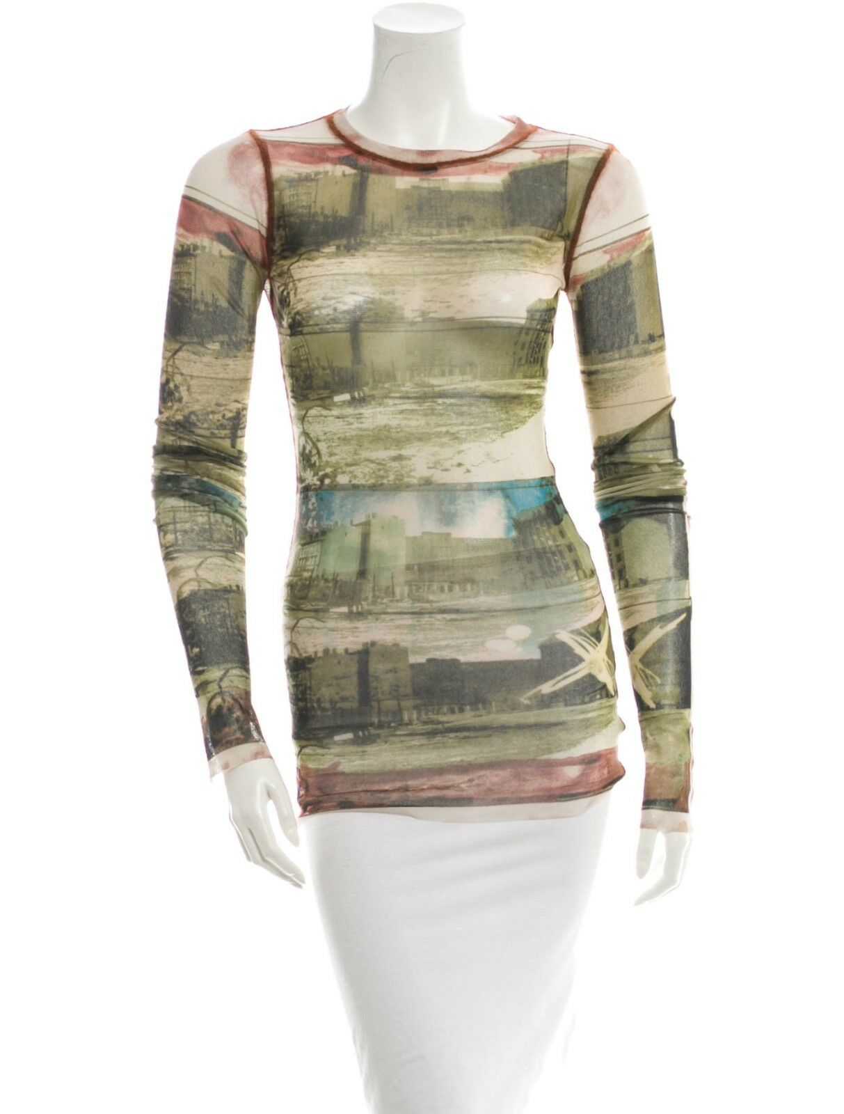 STYLISH NEW SOLD OUT MESH TOP BY JEAN PAUL GAULTIER FEMME