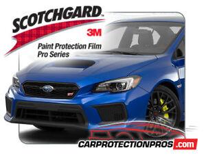 3M Scotchgard Paint Protection Film Pro Series Clear Fits 2018 2019 Subaru WRX