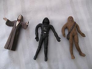 Vintage-Bendable-Rubber-Star-Wars-Action-Figures-Lot-Darth-Vader