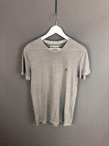 Allsaints-T-Shirt-Pequeno-Gris-Excelente-Estado-Para-Hombre