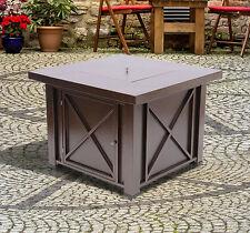 Outdoor Gas Fire Pit Table Propane Backyard Garden Deck Fireplace Heater Grill