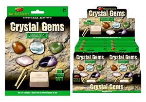 Adventurers Crystal Gems Exploration Digging Kit 5 Different Gems To Discover